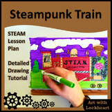 Steampunk Train, STEAM Drawing Activity