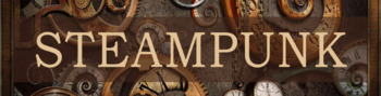 Steampunk display banner