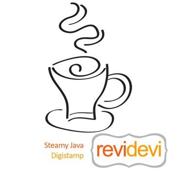 Steamy Java (digital stamp, coloring image) S020, coffee cup