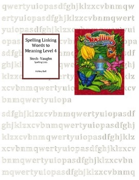 Steck-Vaighn Linking Words to Meaning Level 4 lists
