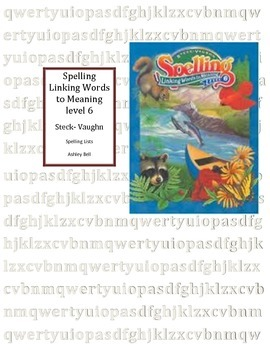 Steck-Vaughn Linking Words to Meaning Level 6 lists