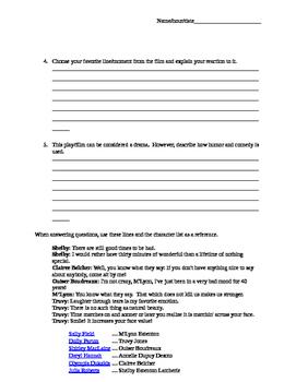 Steel Magnolias Response Sheet