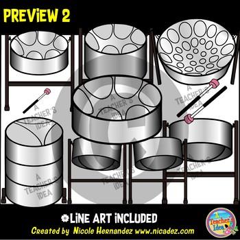 Steel Pan Music Clip Art for Teachers