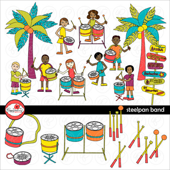 Steelpan Band Clipart by Poppydreamz