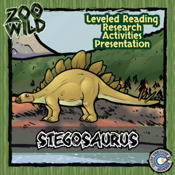 Stegosaurus -- 10 Resources -- Coloring Pages, Reading & A
