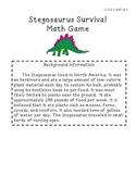 Stegosaurus Survival 3-digit Math Game