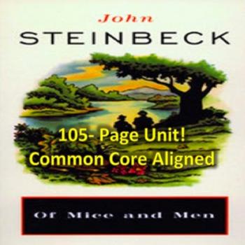 Of Mice and Men: 105 Page Unit- Lesson Plans, Handouts, Ac
