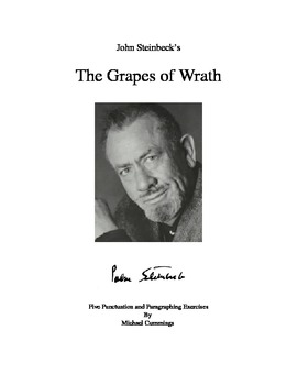 Steinbeck: The Grapes of Wrath: Six Punctuation and Paragraphing Exercises