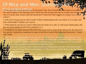 Steinbeck's Of Mice and Men Power Point Lecture