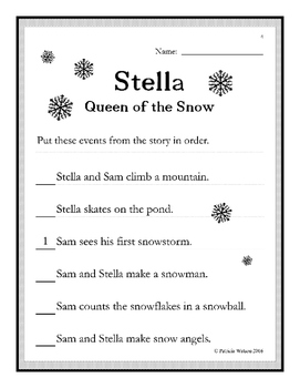 Stella Queen of the Snow Worksheets