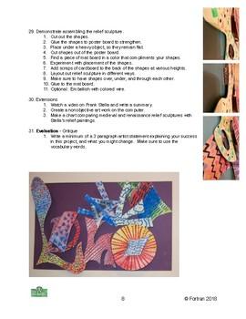 Stella Relief Sculpture Visual Arts Lesson for 6th to 12th Grade