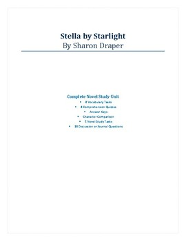 Stella by Starlight - Complete Novel Study