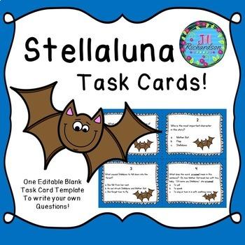 Stellaluna Activities Task Cards (Reading Comprehension)