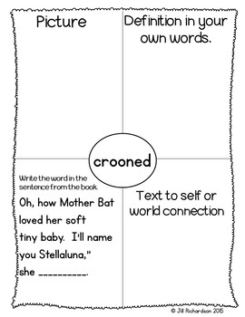 Stellaluna Activities Book Companion (Interactive printable and writing rubrics)