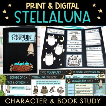 Stellaluna Activities Character and Book Study With Literacy Centers