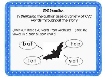 Stellaluna Activities:  CVC & Nonsense Word Activities
