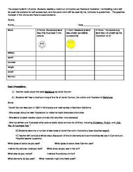 Stellaluna Art and Vocabulary 2 Day Lesson