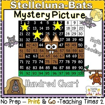 Stellaluna-Bats Hundreds Chart Hidden Picture