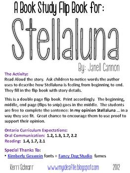 Stellaluna - Book Study Flip Book