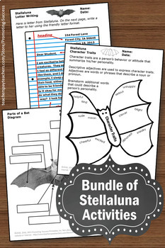 Stellaluna Activities BUNDLE, Stellaluna Reading Comprehension Questions