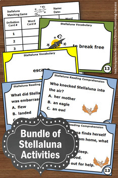 Stellaluna Book Study Companion BUNDLE Writing, Reading Comprehension, Science