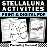 Stellaluna Activities BUNDLE Book Companion Worksheets Task Cards