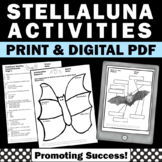 Stellaluna Activities BUNDLE Book Companion Worksheets Task Cards