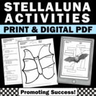 Stellaluna Book Activities Halloween Writing Science Literacy Worksheets BUNDLE