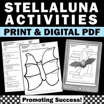 stellaluna printable activities worksheets reading book
