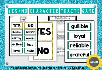 Stellaluna - Character Traits Game