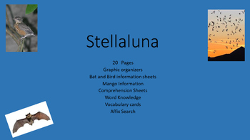 Stellaluna Comprehension Lesson Plans.......