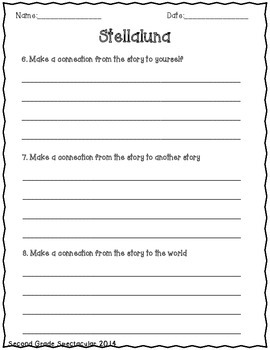 Stellaluna Comprehension Questions by Elementary Spectacular | TpT