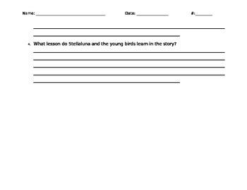 Stellaluna Comprehension Questions