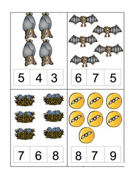 Stellaluna Count & Clip Cards