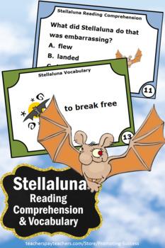 Stellaluna  Comprehension Questions, Stellaluna Vocabulary Task Cards
