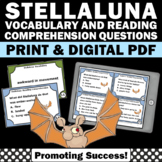 Stellaluna Activities Reading Comprehension Vocabulary Task Cards