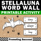 Stellaluna Activities Vocabulary Word Wall & Coloring Pages