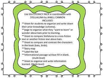 Stellaluna Literacy Pack- Common Core Literacy Activities