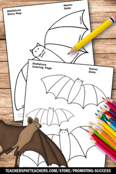 Stellaluna Graphic Organizer, Bat Theme, Halloween Book, Stellaluna Sequencing