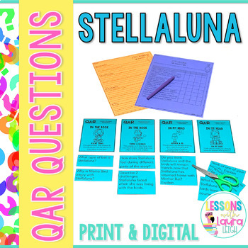 Stellaluna QAR Comprehension Questions with QAR Poster