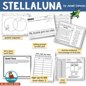 Stellaluna - Reader Response Pages - [Writing Prompts]