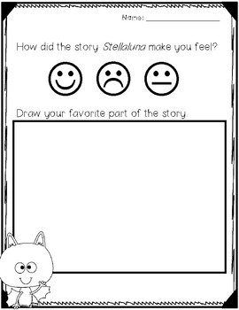 Stellaluna Reading Response Sheet