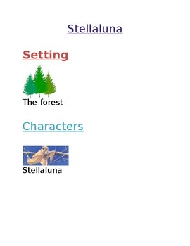 Stellaluna Story Map Cards