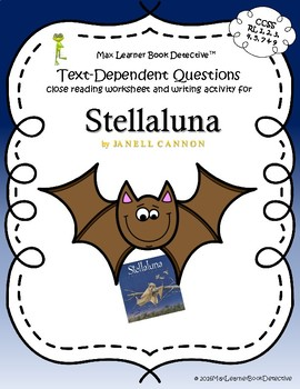 Stellaluna: Text-Dependent Questions and Comprehension Worksheet