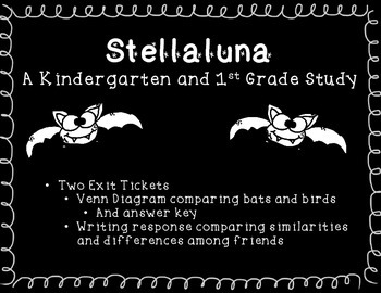 Stellaluna Venn Diagram and Compare Contrast