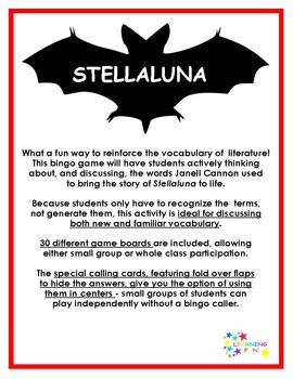 Stellaluna Vocabulary Bingo