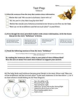Stellaluna - Vocabulary, Comprehension, Test Prep - Text Talk