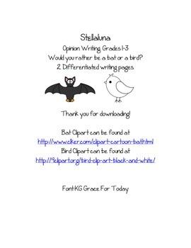 Stellaluna bat or bird