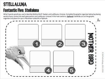 Stellaluna Reading Lesson Activities & Interactive Notebook/Lapbook Templates