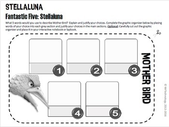 Stellaluna Differentiated Reading & Interactive Notebook/Lapbook Activities
